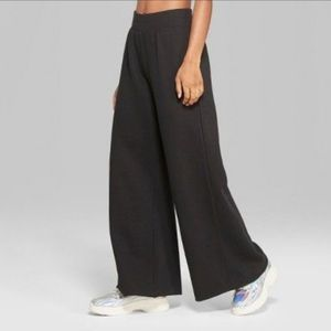 Wild Fable Black Wide Leg Banded Sweat Pants